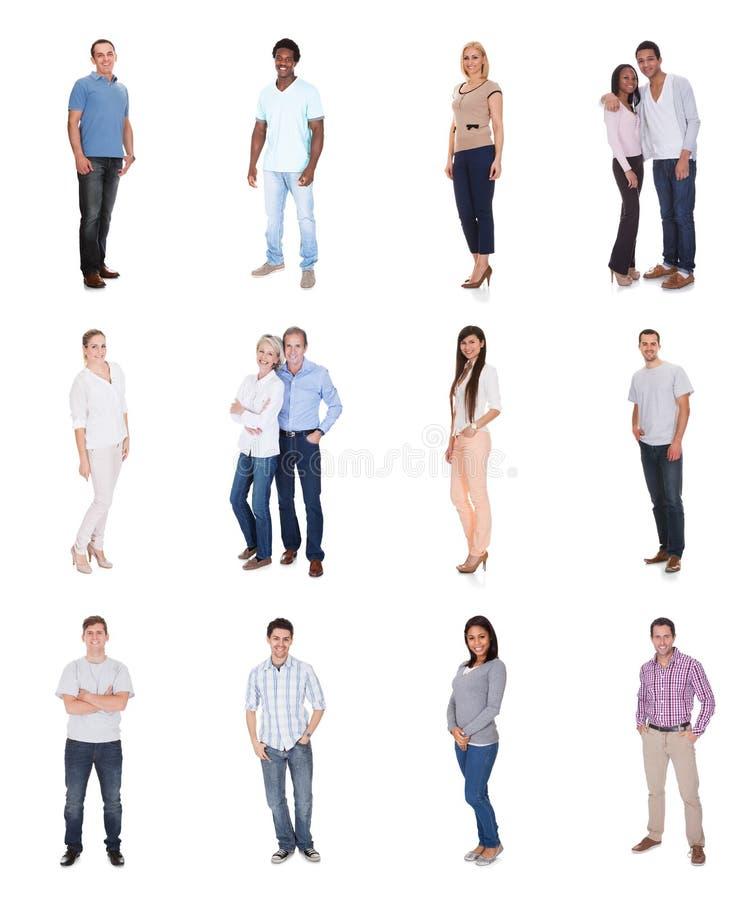 不同的组人员 免版税库存照片