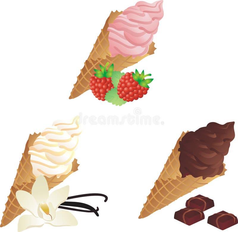 不同的类冰淇凌 库存例证