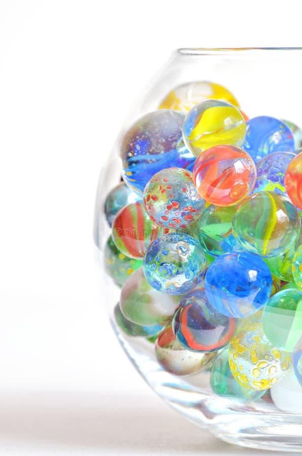 不同的玻璃球 库存照片