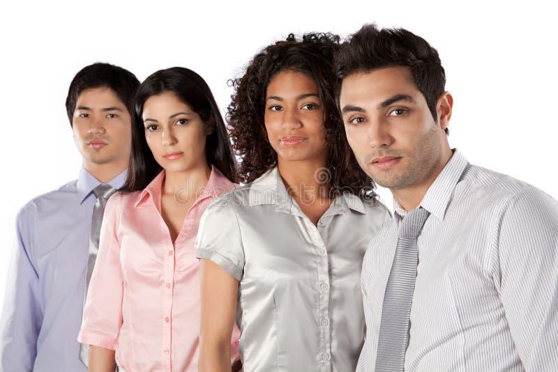 不同种族的小组买卖人 免版税库存照片