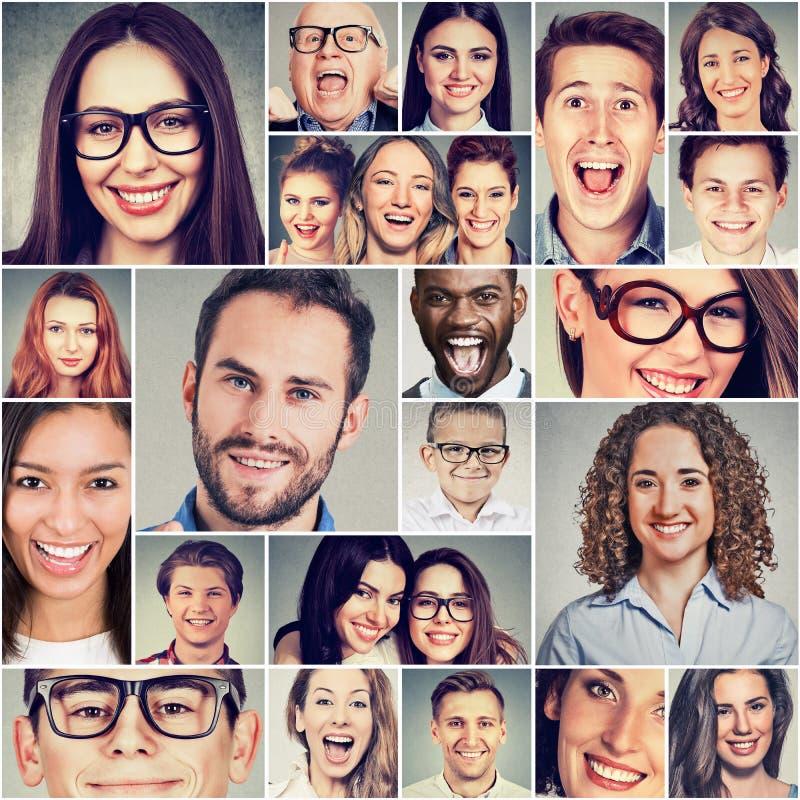 不同种族的小组愉快的微笑的人男人和妇女 库存照片