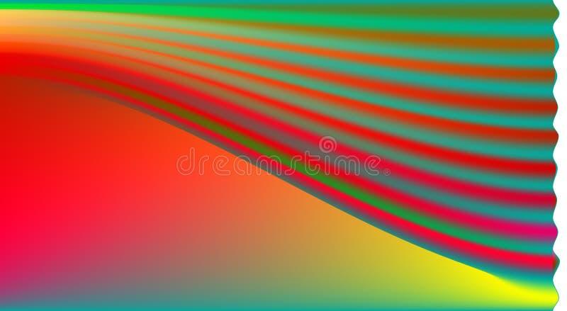 不同颜色的混合在梯度背景的 库存图片