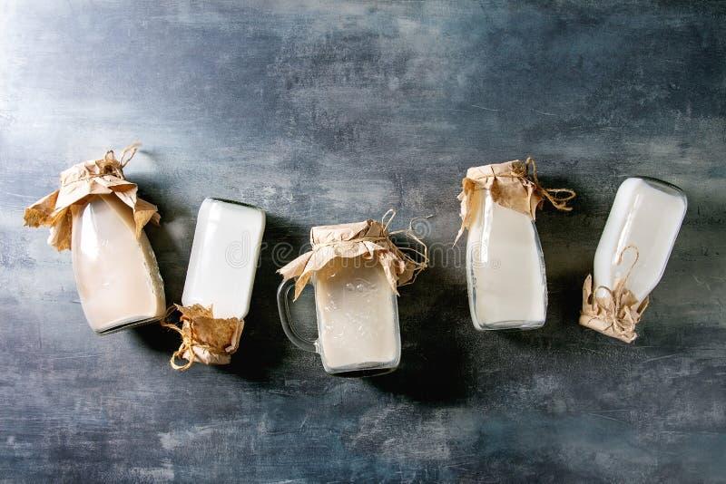 不含乳制品的牛奶品种  免版税图库摄影