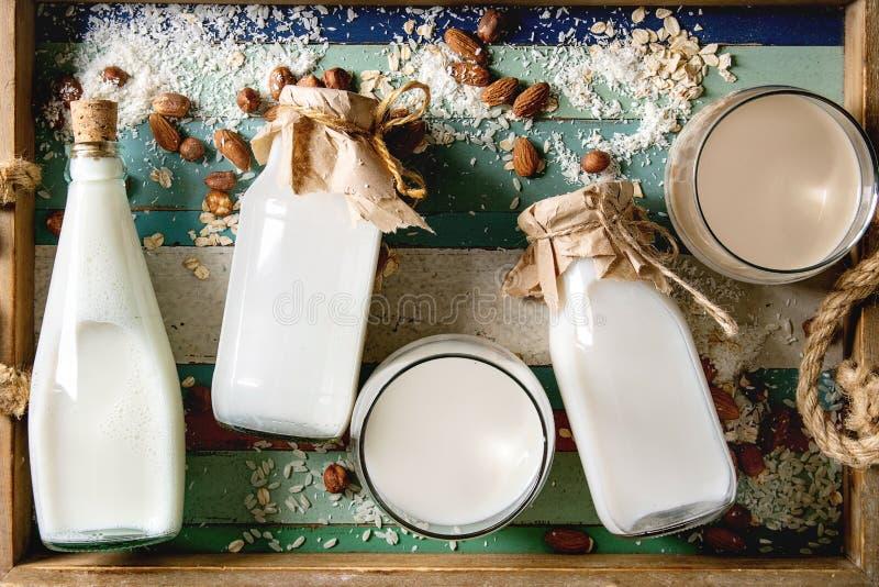不含乳制品的牛奶品种  图库摄影