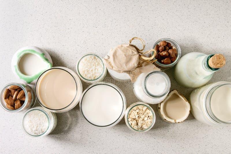 不含乳制品的牛奶品种  库存图片