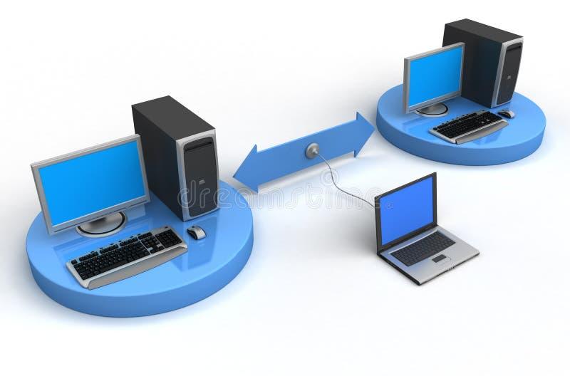 不安全的计算机网络 皇族释放例证