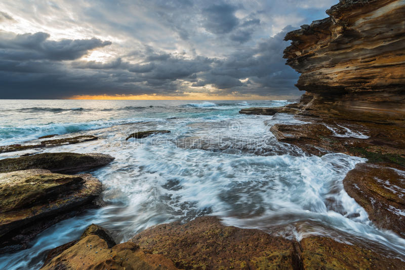 不安海洋海景 库存图片
