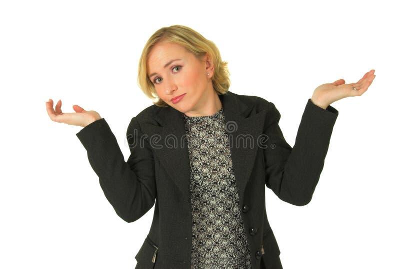不定的妇女年轻人 免版税图库摄影
