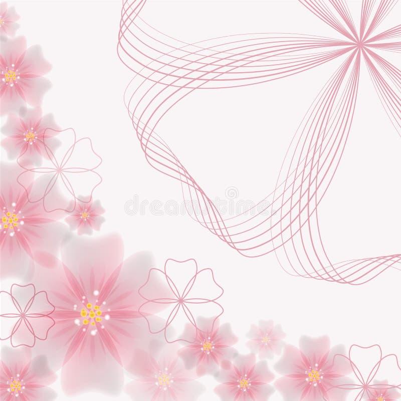 不对称的抽象花卉背景-传染媒介例证 向量例证