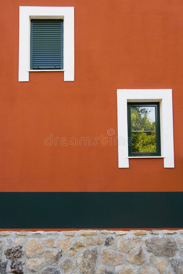 不对称的视窗 库存图片