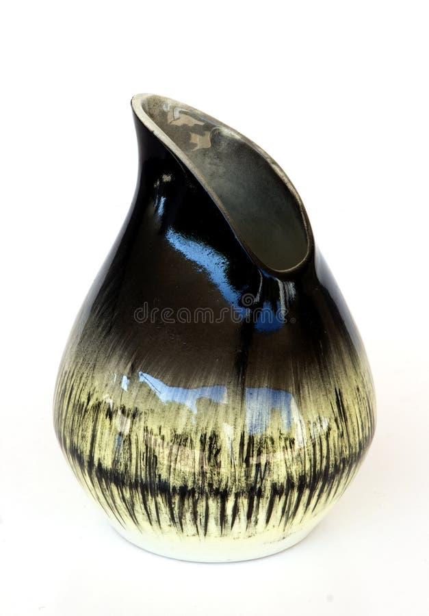 不对称的陶瓷以色列减速火箭的花瓶wh 免版税图库摄影