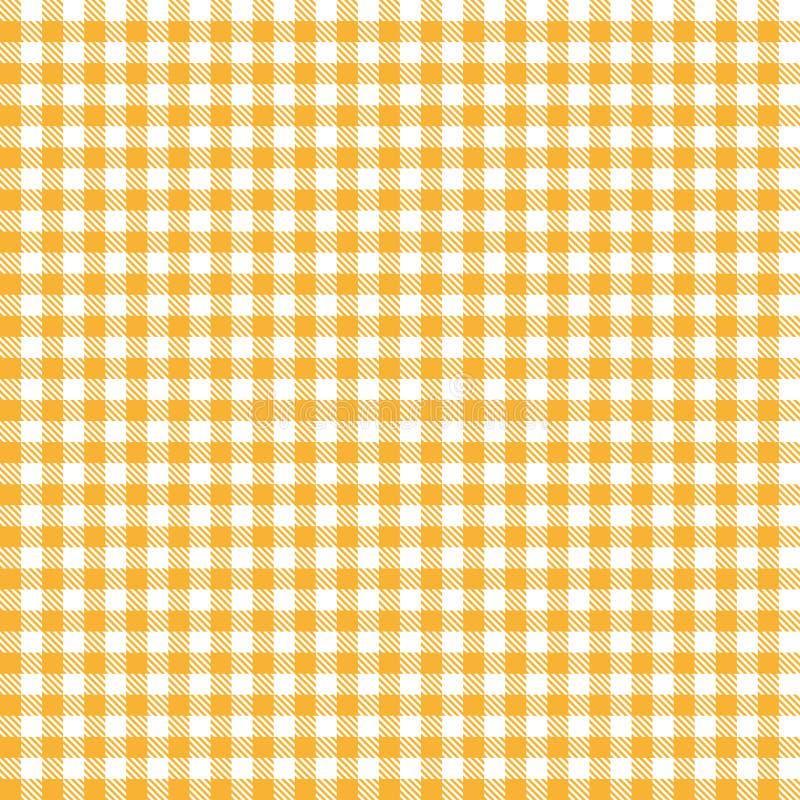 不尽方格的桌布样式桔子 向量例证