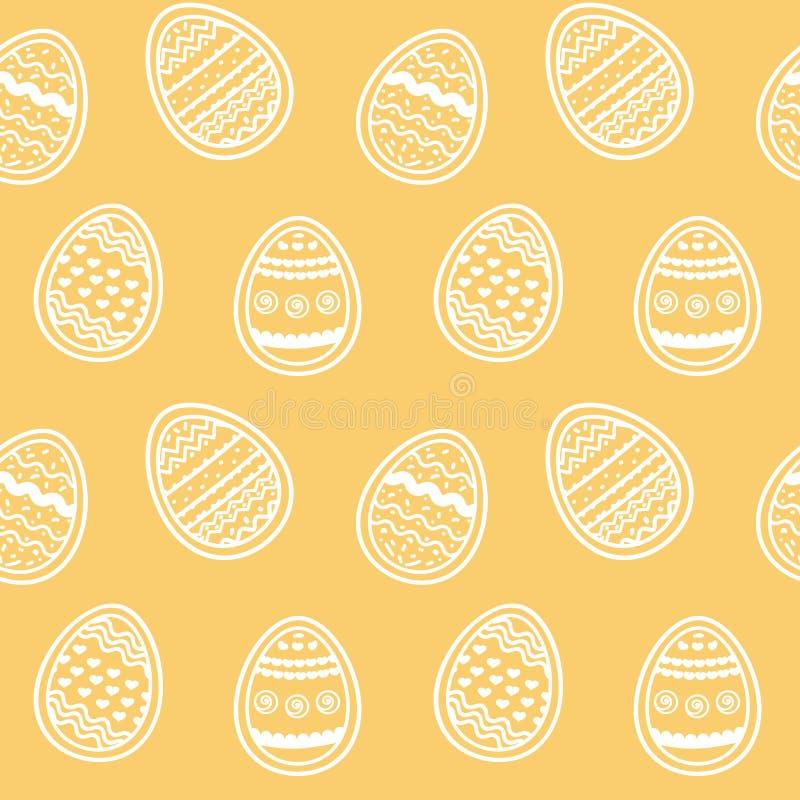 不尽的在琥珀色的背景的样式美丽的装饰的鸡蛋 皇族释放例证