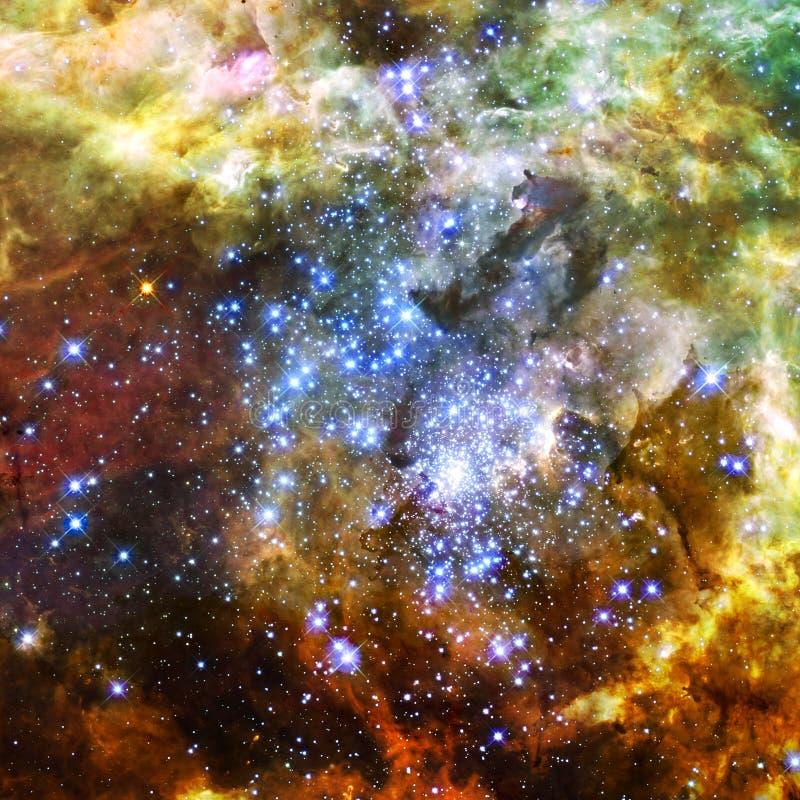 不尽的宇宙 r 库存图片