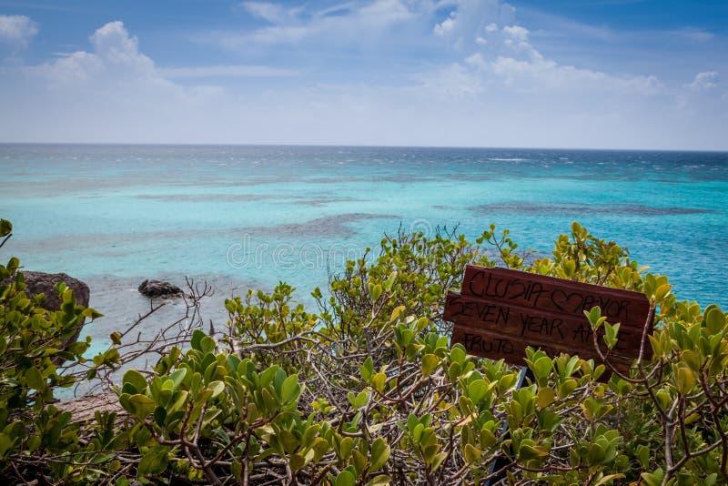 不尽的完善的加勒比海的看法,上帝,哥伦比亚 库存图片