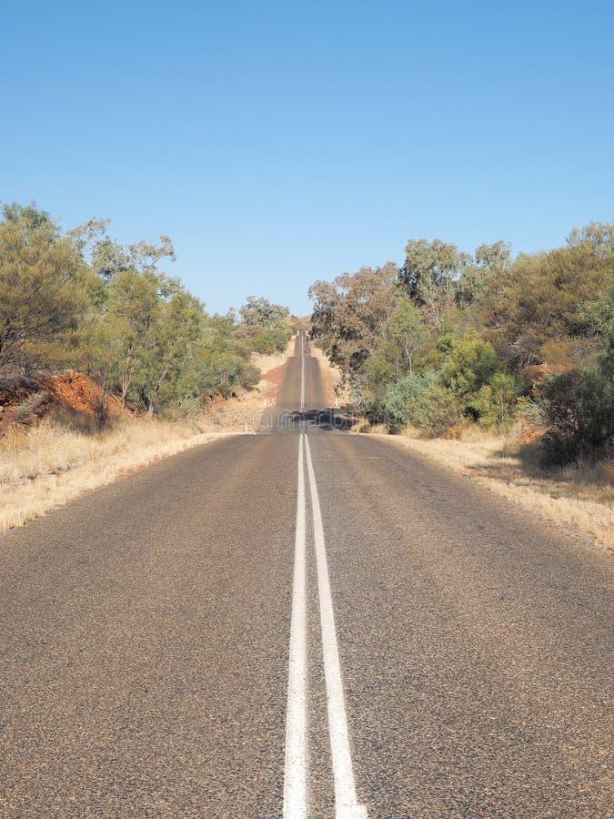 不尽的罗斯高速公路,北方领土 免版税库存照片