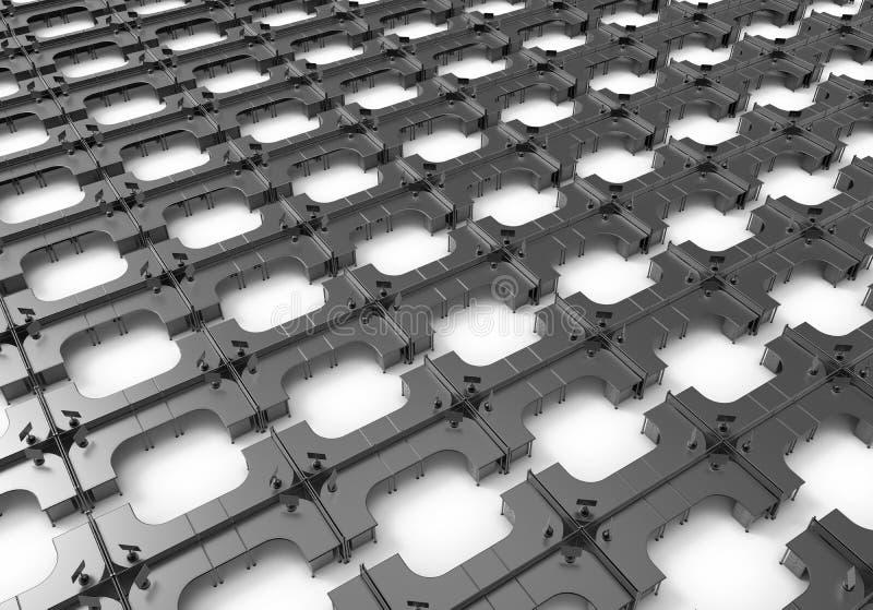 不尽的黑暗的立方体概念 库存例证