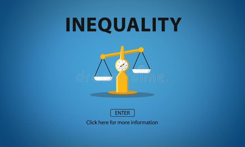 不平等不平衡状态受害者偏见偏心概念 库存例证