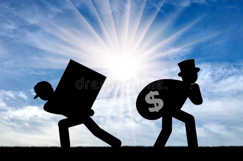 不平等和资本主义 库存图片