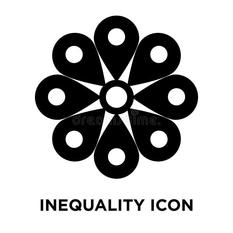 不平等在白色背景隔绝的象传染媒介,商标concep 皇族释放例证