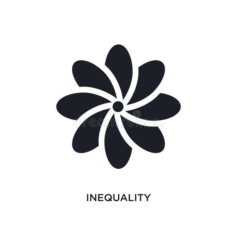 不平等被隔绝的象 从黄道带概念象的简单的元素例证 不平等编辑可能的商标标志标志设计  库存例证