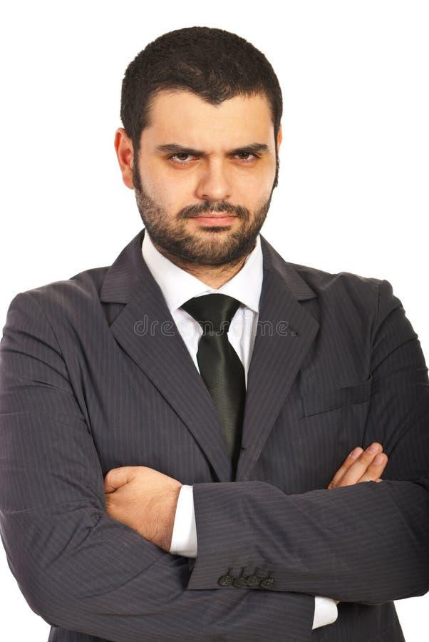 不快乐的商人 库存图片