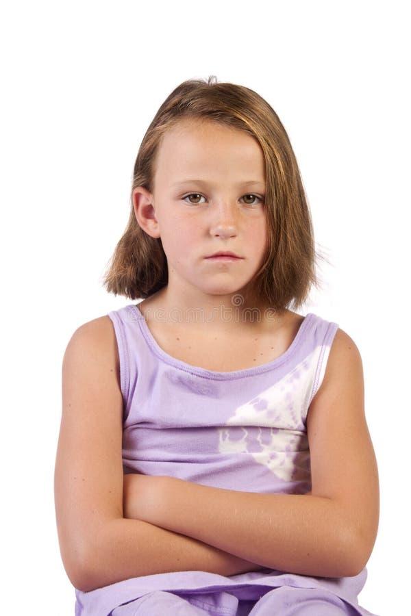不快乐的女孩 图库摄影
