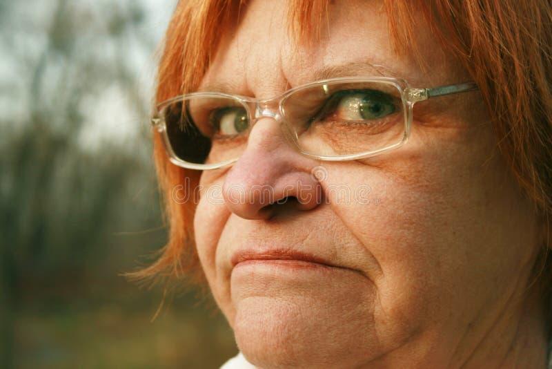 不快乐的妇女 免版税库存图片