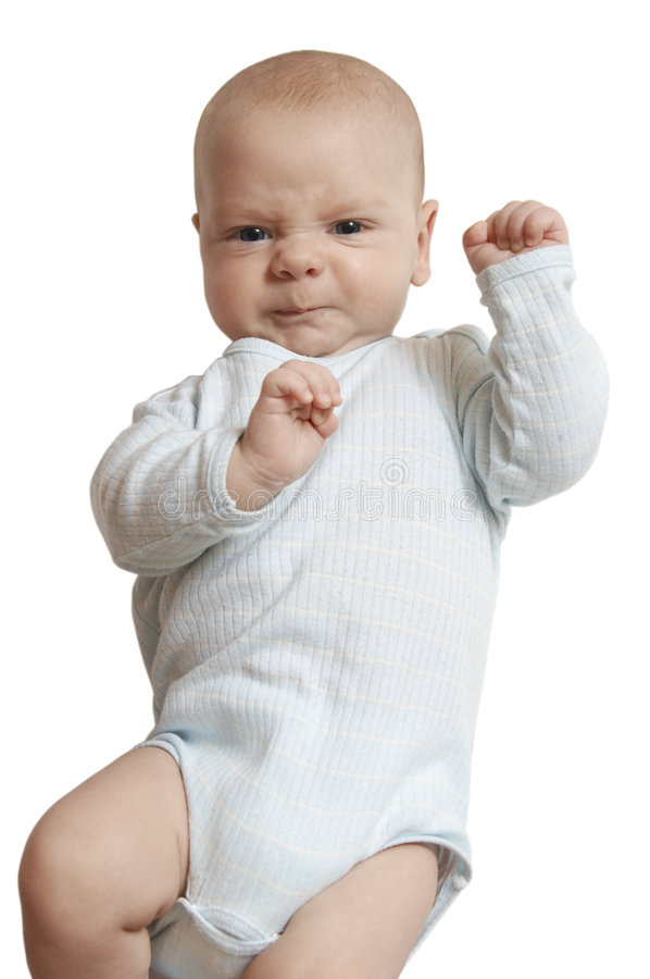 不快乐的婴孩 免版税图库摄影