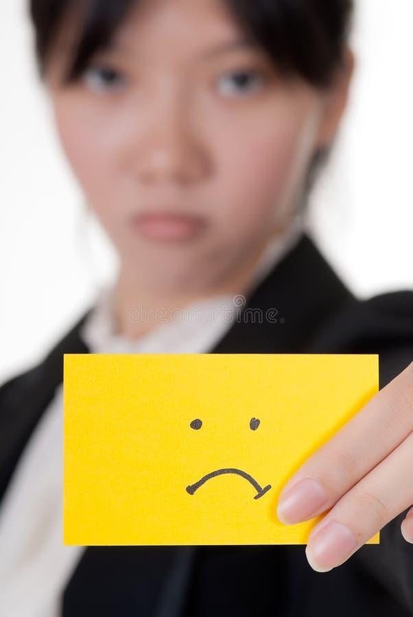 不快乐 免版税库存照片
