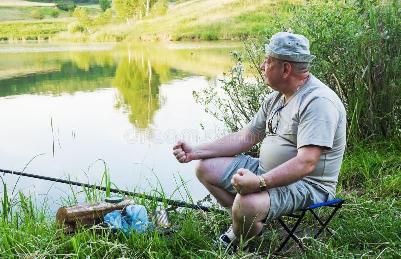 不成功的渔夫 免版税库存照片