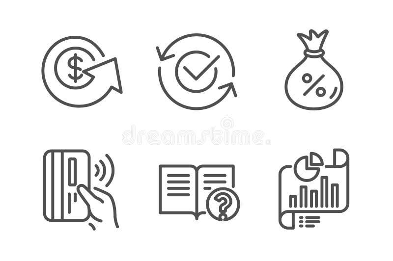 不接触的付款,帮助和贷款象集合 被批准的,美元外汇和报告文件标志 向量 向量例证