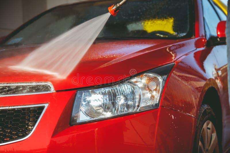 不接触的洗车自助 图库摄影