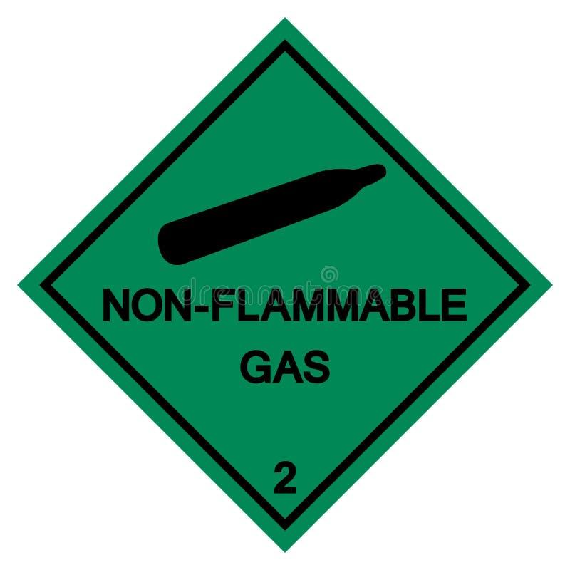 不易燃的气体标志标志,传染媒介例证,在白色背景标签的孤立 EPS10 向量例证