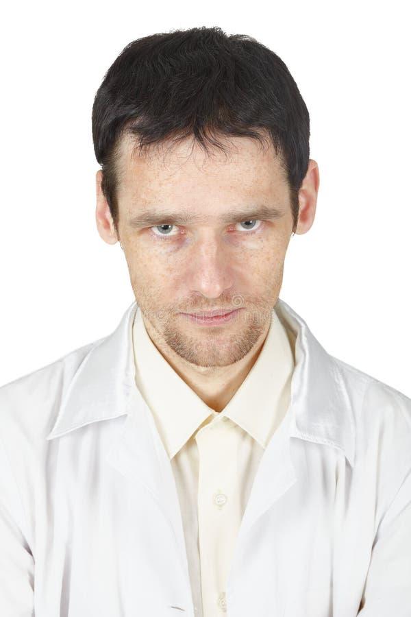 不是医生注视好年轻人 库存图片