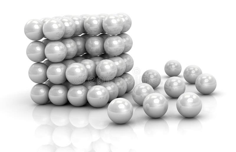 不是完整分子结构 向量例证