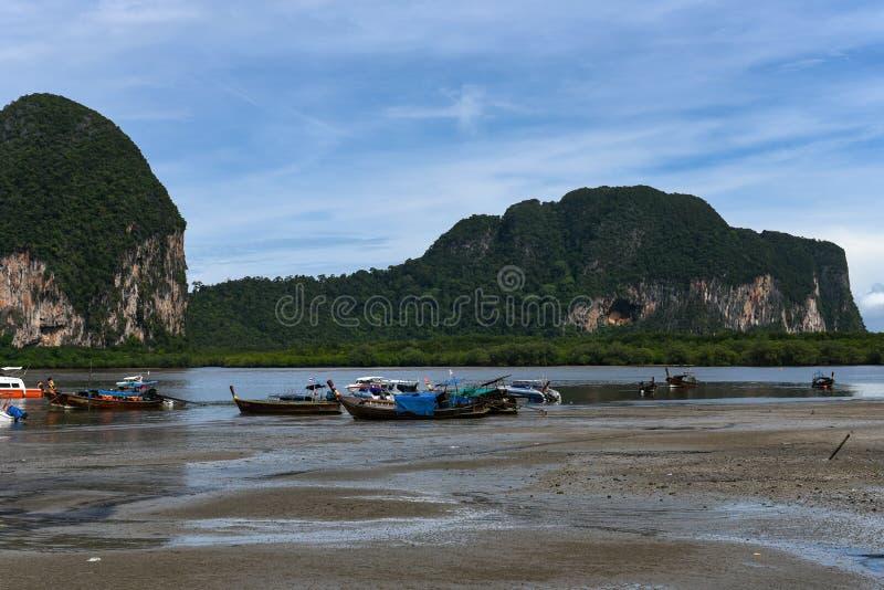不是干净的Trang,泰国的海滩 库存图片