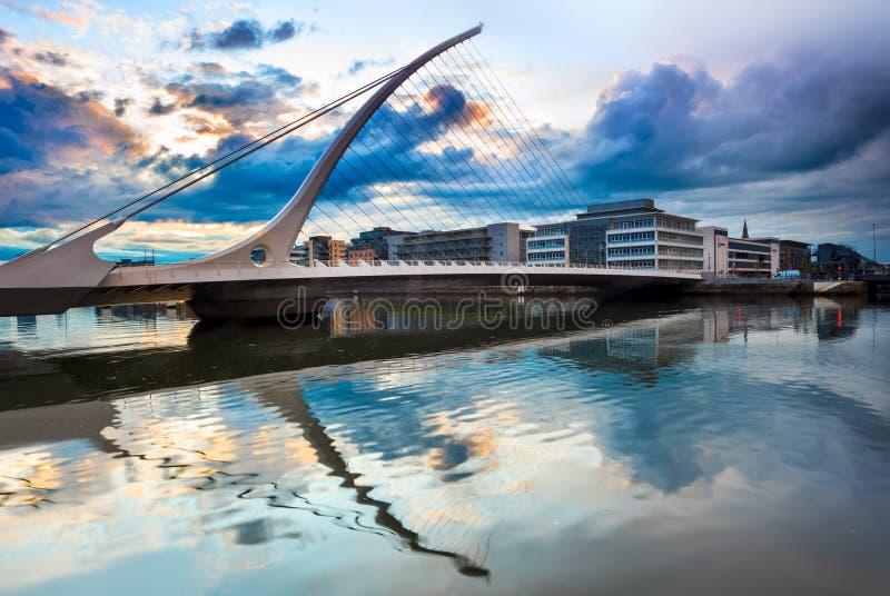 不是beckett桥梁都伯林编辑的重点爱尔兰透镜塞缪尔有选择性的班次掀动 库存照片