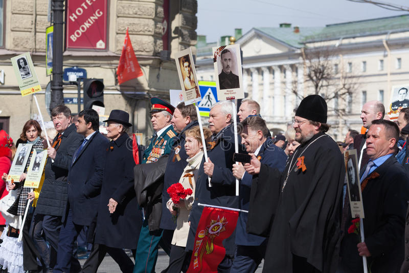 不朽的军团在圣彼德堡 库存图片