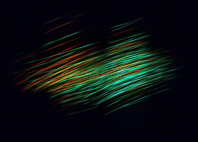 不清楚光亮微粒和一种一刹那光线影响有启发性抽象数字式波浪  收音机的技术概念或 库存照片