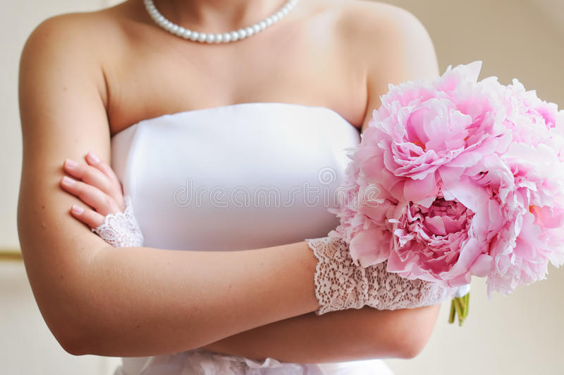 不满的新娘 免版税库存图片