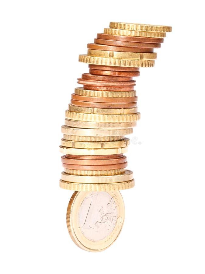 不稳定的欧元 免版税图库摄影