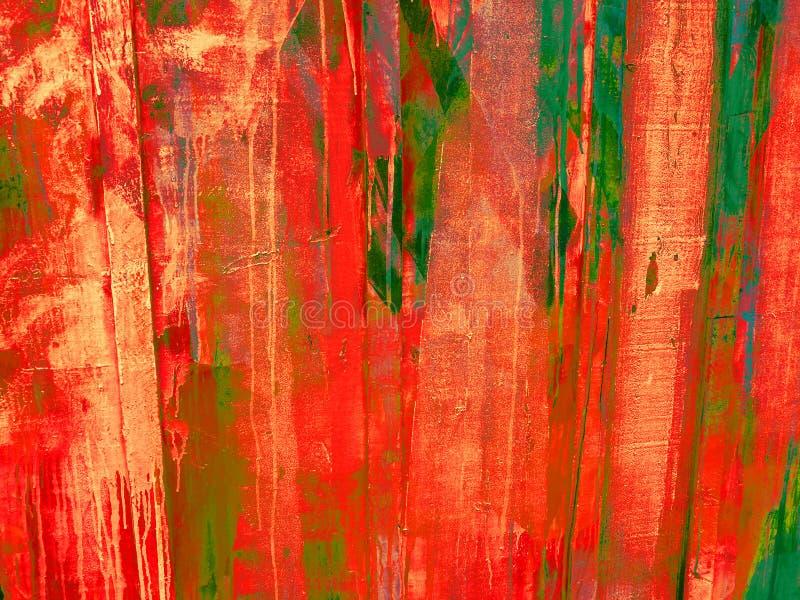 不粘附喷涂物在墙壁上的油漆冲刷 库存图片