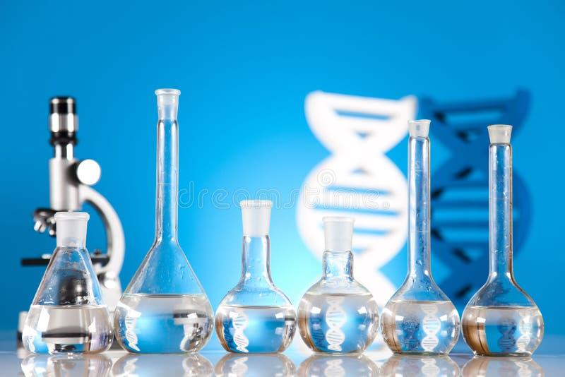 不育的情况,实验室玻璃器皿 库存照片
