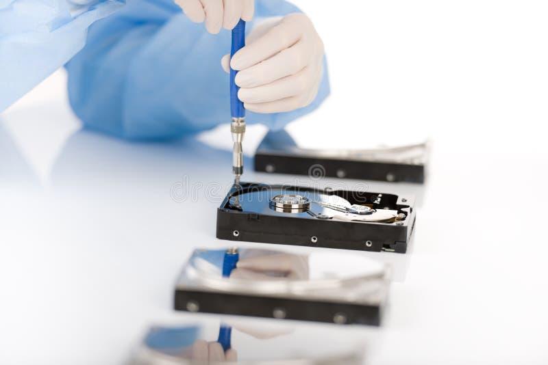 不育计算机缺陷光盘工程师困难的维&# 库存照片