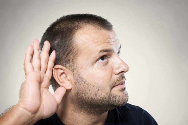 不能听到您! 免版税库存图片