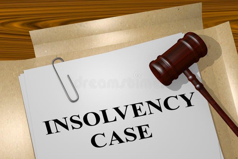 不能溶解案件-法律概念 向量例证