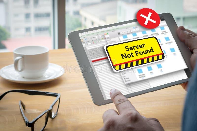 不能进入计算机服务器没被找到的错误 免版税图库摄影