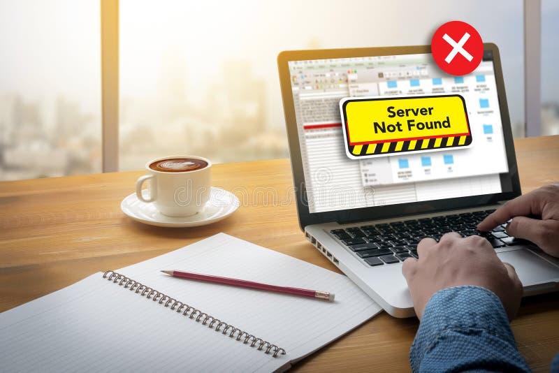 不能进入计算机服务器没被找到的错误 免版税库存照片