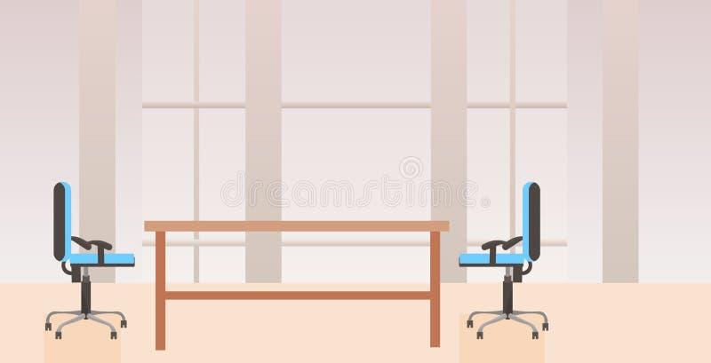 不要倒空共同工作中心内阁现代工作场所书桌创造性的办公室内部的人平展水平 皇族释放例证